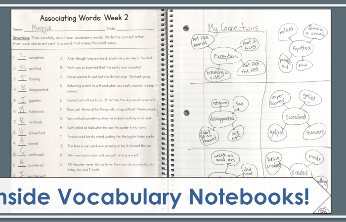 Inside Vocabulary Notebooks