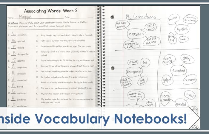 Inside Vocabulary Notebooks