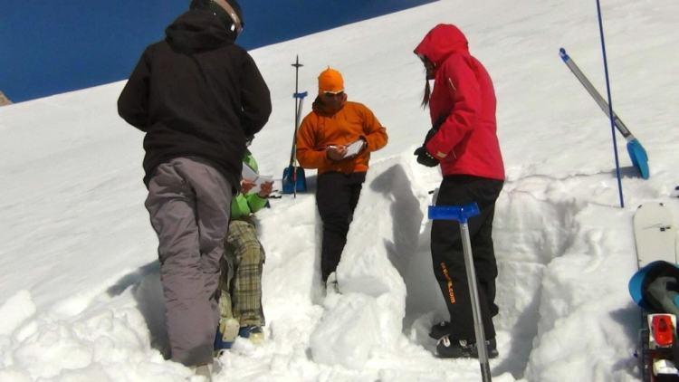 Esqui e snowboard avalanche