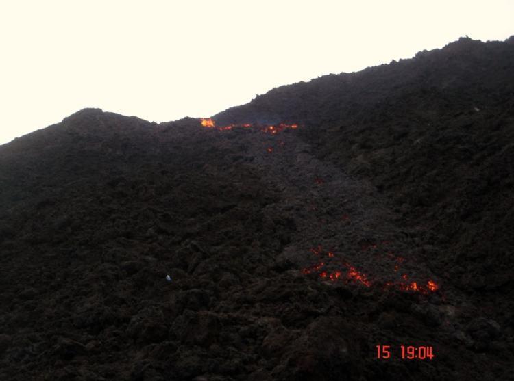 Lava de volcano Guatemala