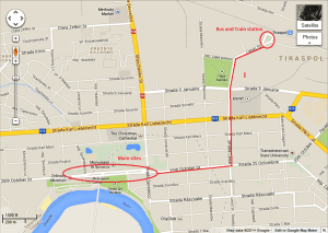 Tiraspol map