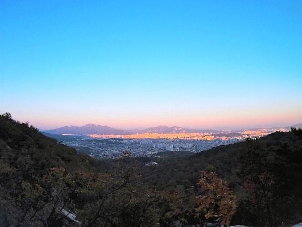 Por do sol em Seul