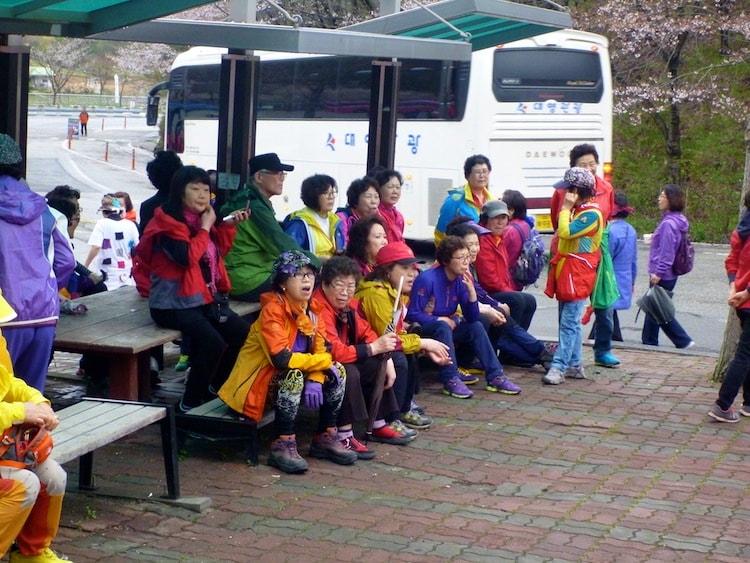 Roupas de trekking na Coreia