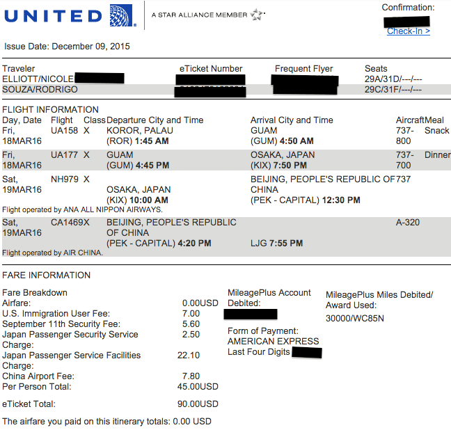 Miles Flight United