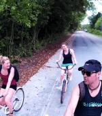 Biking in Peleliu, Palau