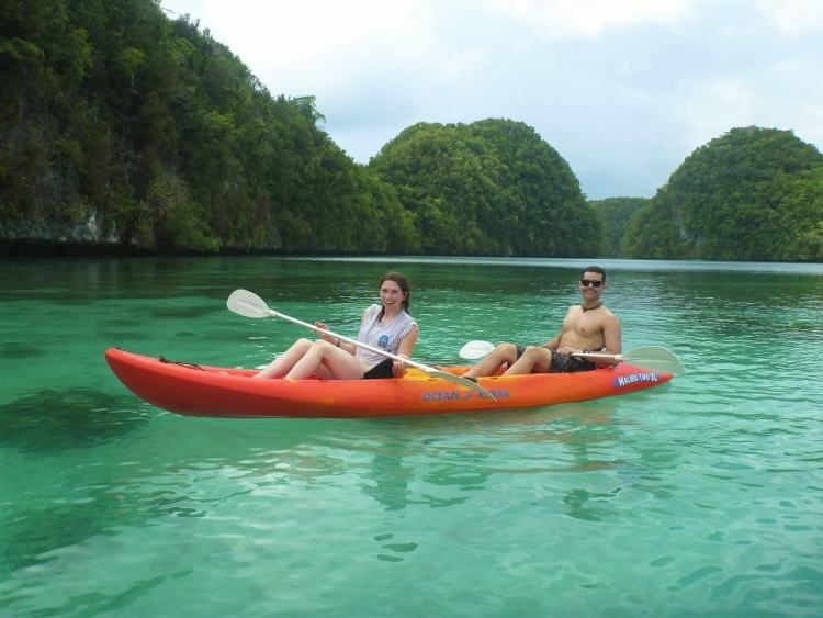 Kayaking in the Rocky Islands, Palau