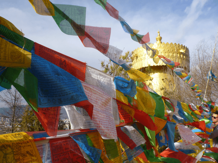 Shangri-la giant Tibetan Prayer Wheel