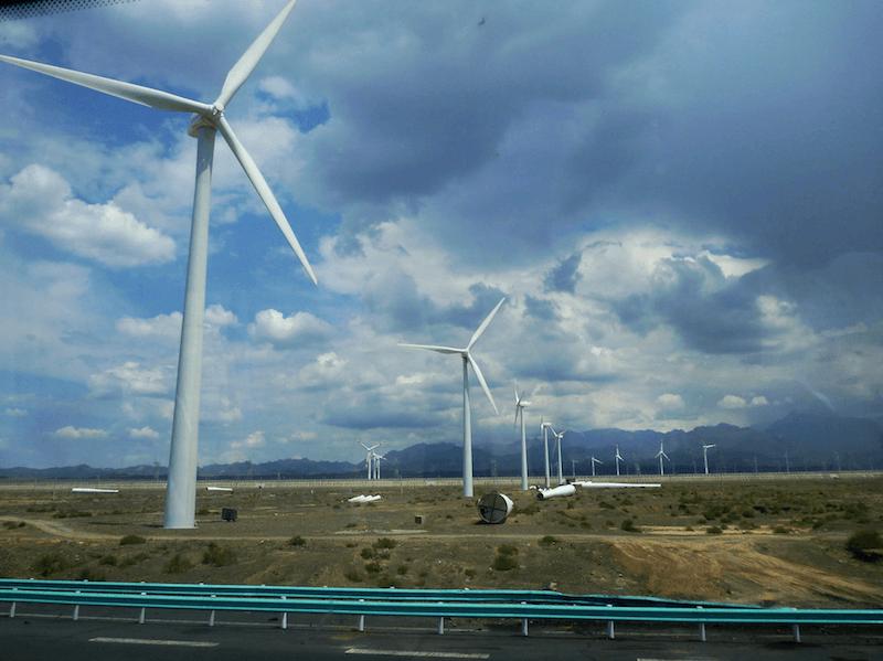 Wind Turbines Farm in China