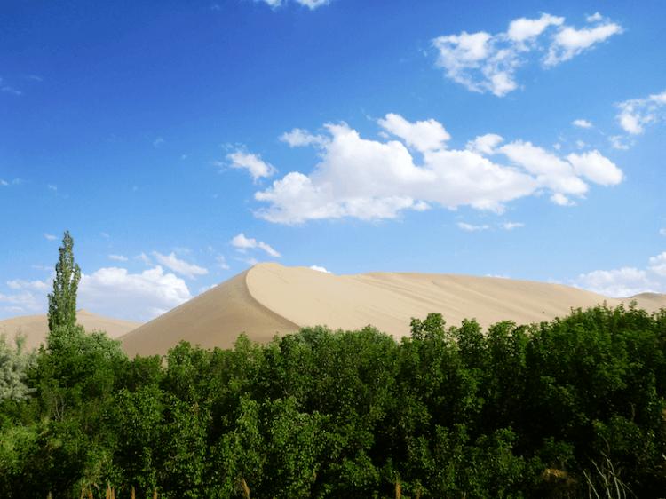Dunhuang dunas de areia China