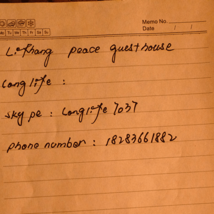 Peace Guesthouse Litang Contact Tibet China
