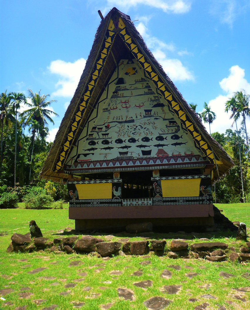 Traditional Palaun house - called the Bai - on Babeldaob Island
