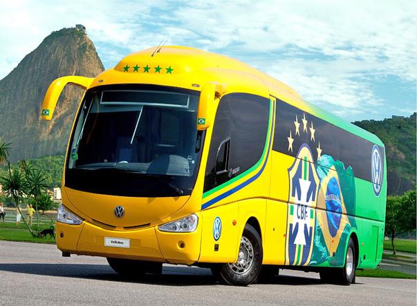 Ônibus oficial da seleção Brasileira de Futebol