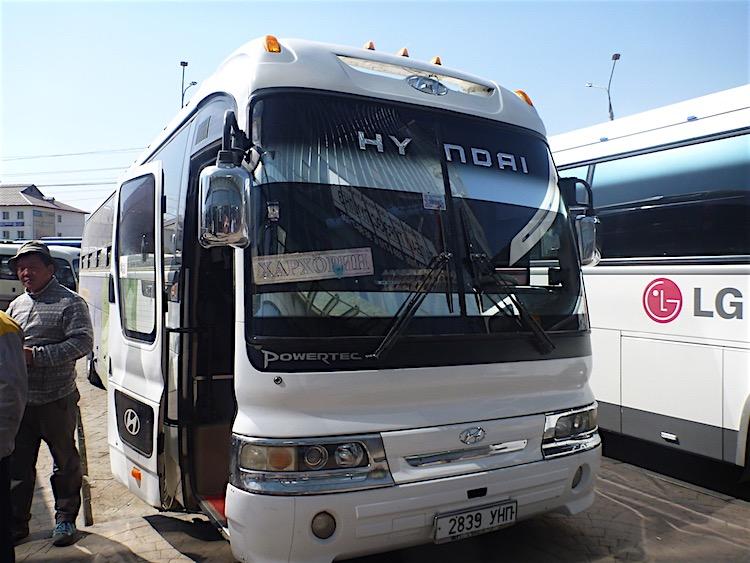 O ônibus para Karakoram