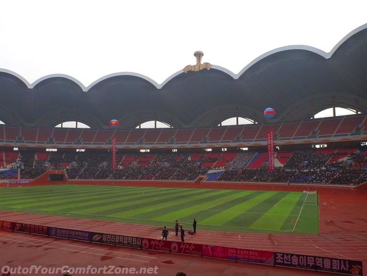 Interior of may day stadium Pyongyang North Korea