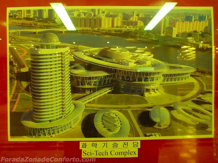 Prédio Sci-Tech Pyongyang Coreia do Norte