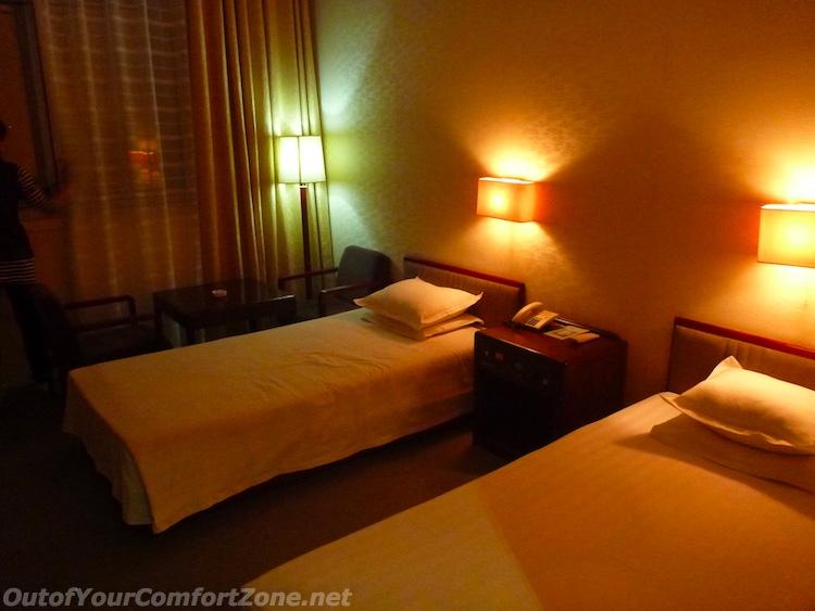 Hotel bedroom Pyongyang North Korea