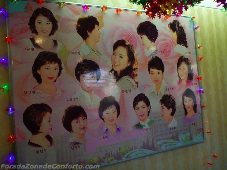Diferentes cortes de cabelo Coreia do Norte