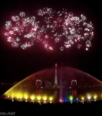 Kim il-sung birthday celebration fireworks Pyongyang North Korea fireworks Juche Tower