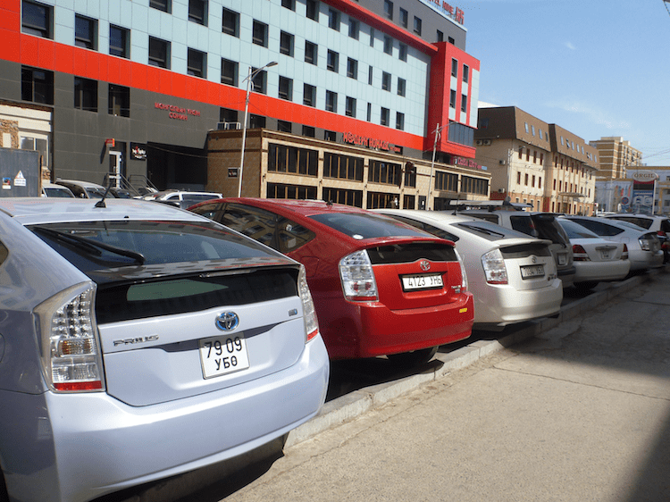 Toyotas Prius na Mongolia