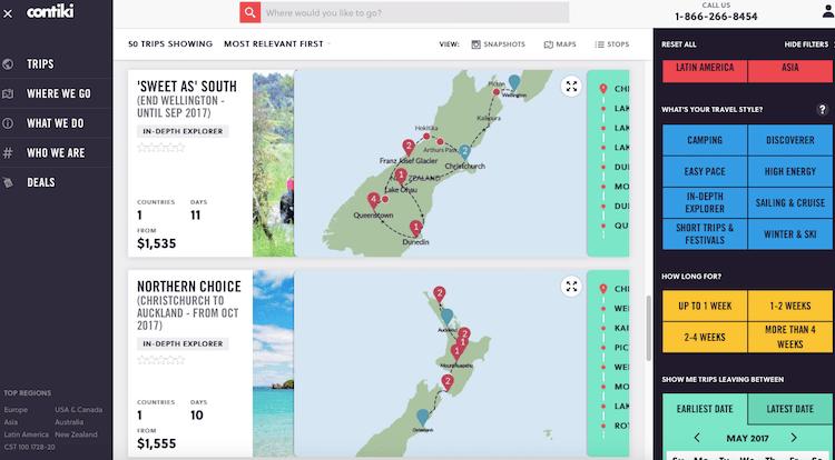 Excursões para Nova Zelândia