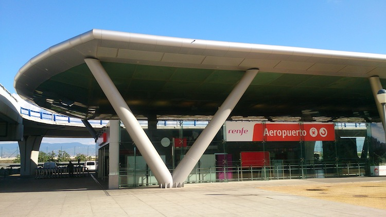 Train Station at Malaga's Airport