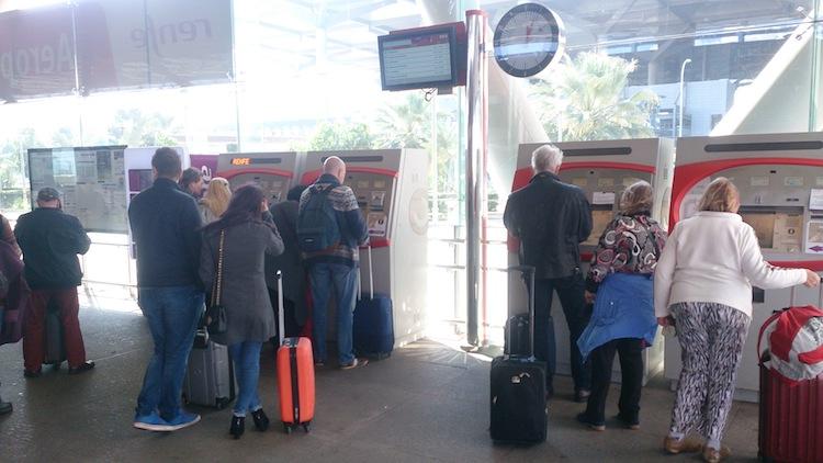 Máquinas para comprar passagens de trem Espanha