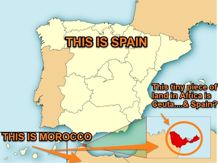Spain And Africa Map.1 Day Ceuta Spain Itinerary Visit Europe In Africa