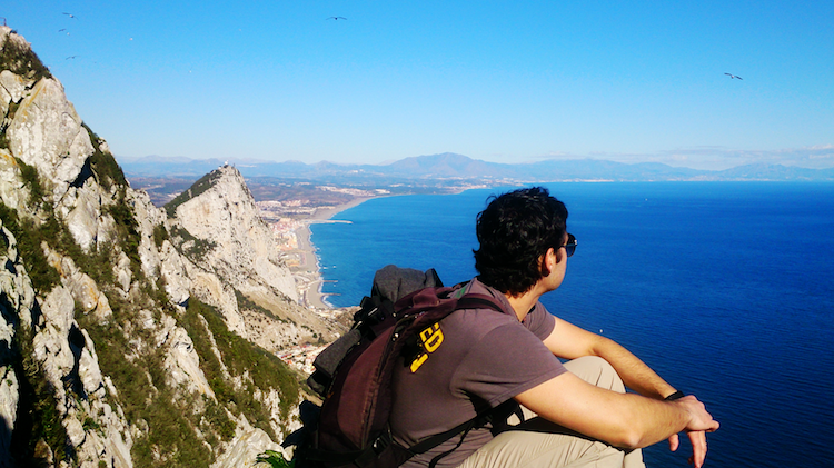 Back of Gibraltar and Spanish Coast