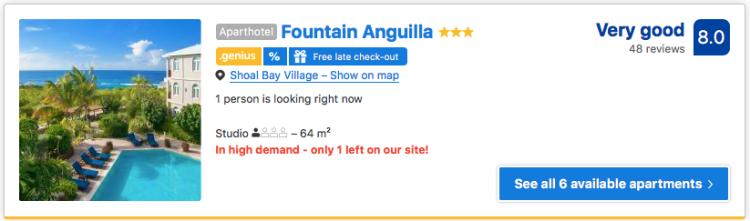 Good hotel in Anguilla