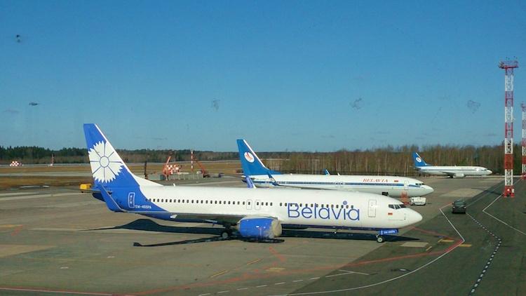 Avião Belavia Bielorrússia