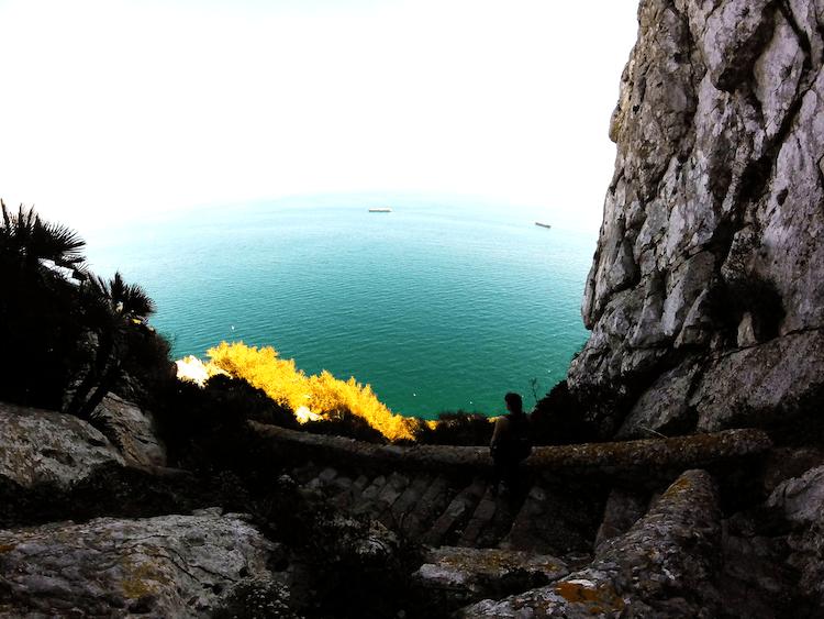 vista Gibraltar Mediterranean Steps trekking