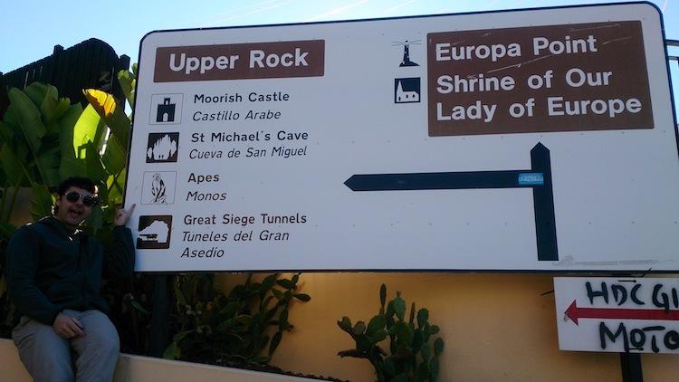 O Rochedo de Gibraltar placa