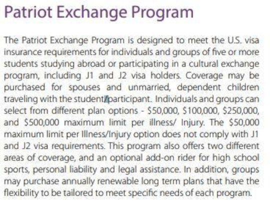 Cheap exchange student insurance