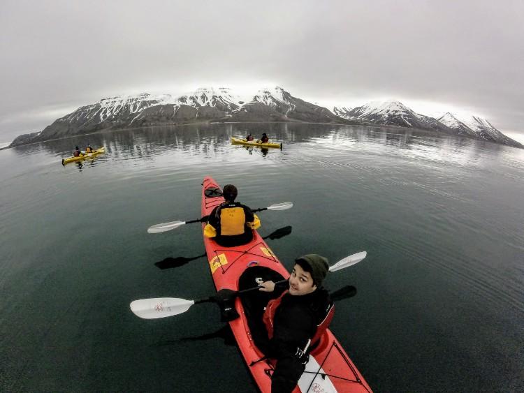 Svalbard Norway Longyearbyen arctic kayaking