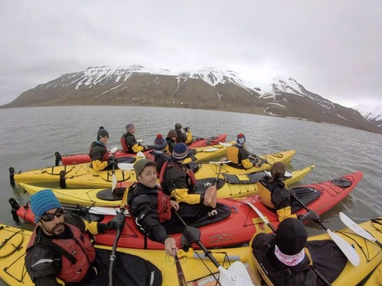 Kayaking in Svalbard