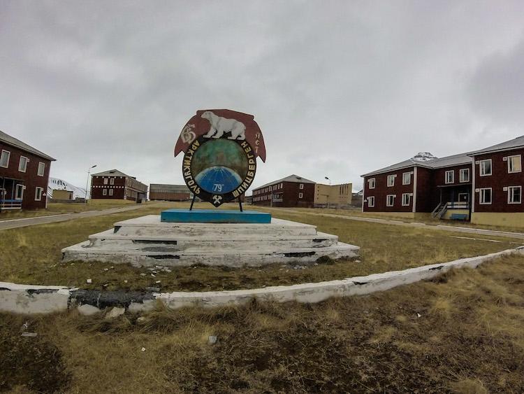 Abandoned center of Pyramiden Svalbard