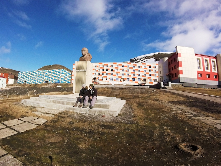 World's northernmost Lenin statue Svalbard