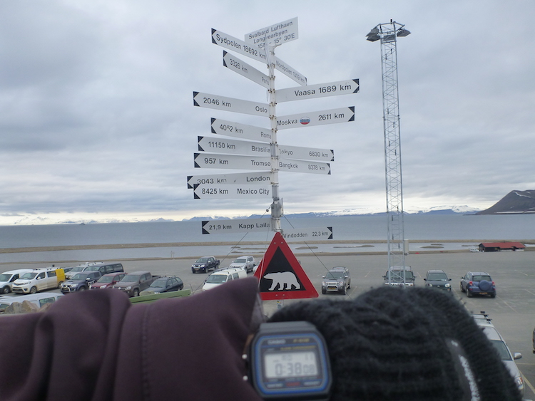 Famous Sign in Svalbard