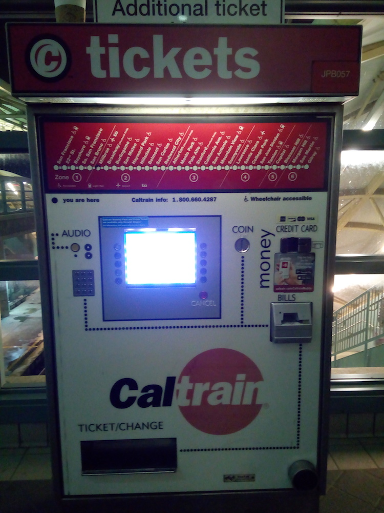 Caltrain machine