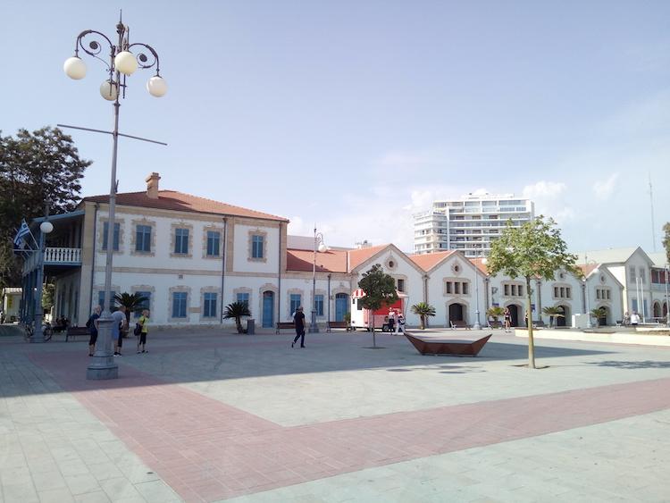 larnaca cyprus main plaza