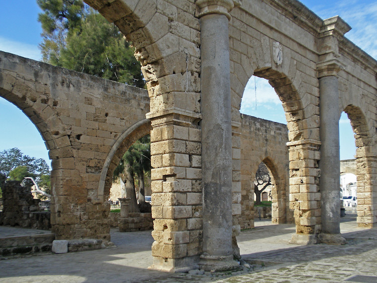 Famagusta Gazimagusa city center ruins