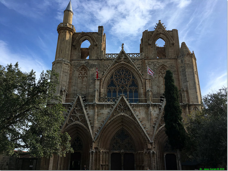 Famagusta Gazimagusa mosque church city center ruins