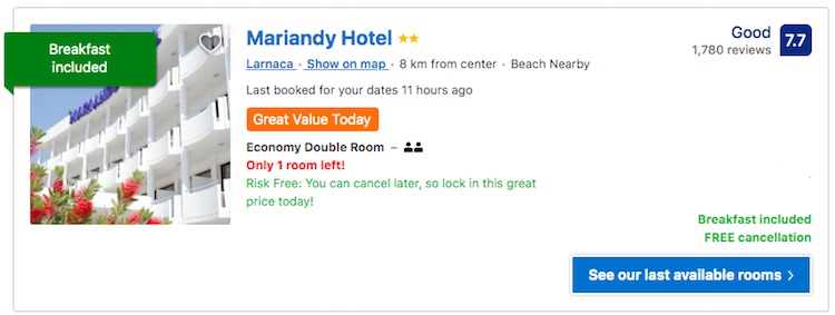 Accommodation Larnaca