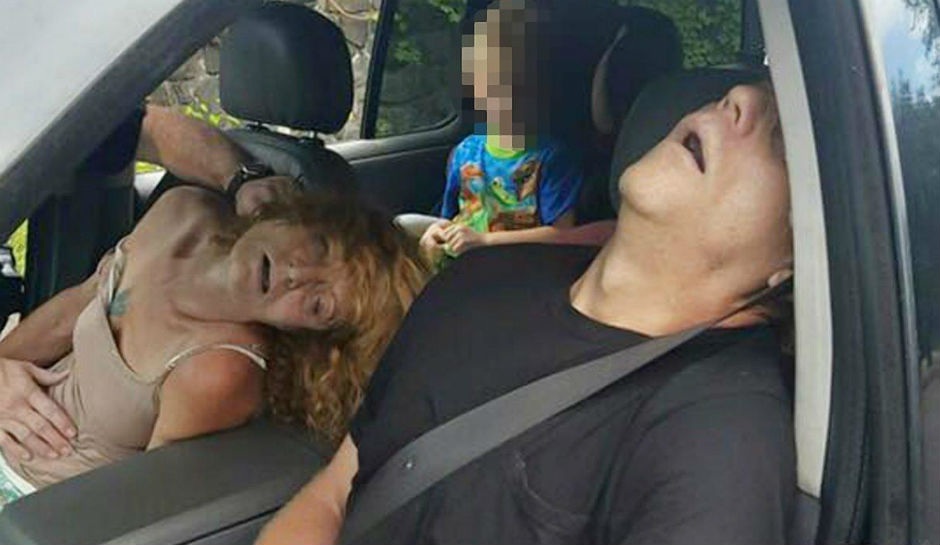 Couple Passed Out in Suspected Overdose with Boy, 4, in the Car