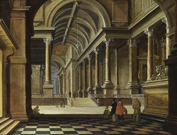 Bartholomeus Van Bassen Interior Of Imaginary Church