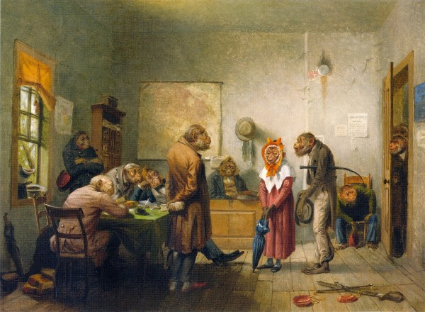 William Holbrook Beard Divorce Oil Painting Reproduction