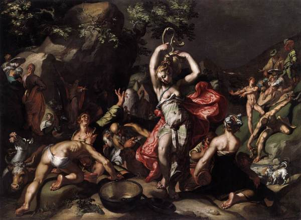 Abraham Bloemaert Moses Striking Rock Oil Painting