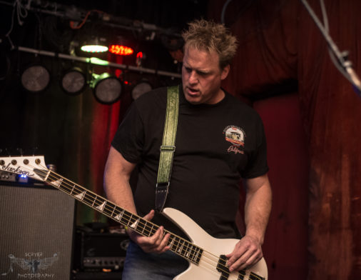 Rob on bass