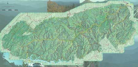 smoky mountain topographic map 2010 Draft Of New Great Smoky Mountains Trail Map