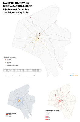 Analysis of all bicycle collisions up to May 5, 2014 with focus on fatalities and injuries.